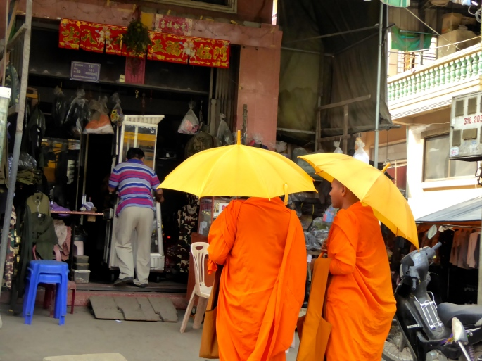 Monks Shopping