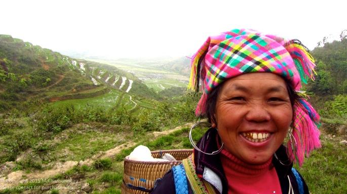 Hmong Woman in Hills-Sapa